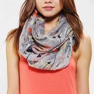 Urban Outfitters BDG Map Scarf